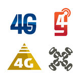 graphisme du logo 4g Photos libres de droits