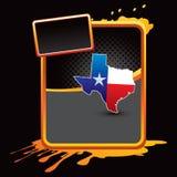 Graphisme du Texas sur le drapeau éclaboussé orange illustration de vecteur