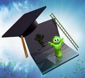 graphisme en ligne de la graduation 3d Photographie stock libre de droits