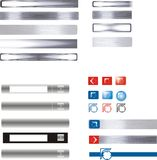 Graphisme et boutons d'Internet Photographie stock