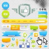 Graphisme et flèches de descripteur de Web Photo stock