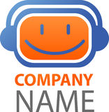 Graphisme et logo de la musique/DJ Photos libres de droits