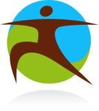 Graphisme et logo de yoga Photographie stock libre de droits