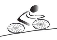 Graphisme faisant du vélo illustration libre de droits