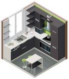 Graphisme isométrique de cuisine de vecteur Photos libres de droits