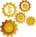 Graphisme/logo d'argent Photo libre de droits