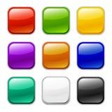 Graphisme lustré de bouton de vecteur, échantillons images stock