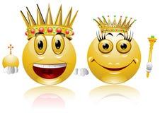 Graphisme lustré de sourire de reine de roi illustration libre de droits