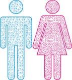 Graphisme mâle et femelle Photo stock