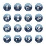 Graphisme minéral de téléphone portable de baisse Image libre de droits