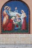 Graphisme orthodoxe avec Mary et Jésus saints Photo stock
