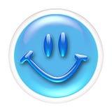 Graphisme ou bouton en verre de sourire Image stock