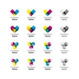 Graphisme réglé de logo Photographie stock