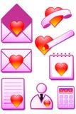 Graphisme romantique Photo stock