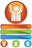 Graphisme rond orange - massage arrière illustration libre de droits