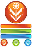 Graphisme rond orange - Weed Images stock