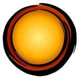 Graphisme rouge de cercle de grand or foncé Image stock