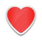 Graphisme rouge de coeur Autocollant sur le fond blanc illustration stock