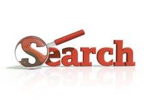 Graphisme rouge de la recherche 3D Image stock