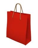 graphisme rouge de sac à provisions 3d d'isolement Photos stock