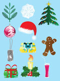 Graphisme set-1 de Noël Images libres de droits