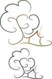 Graphisme simple de maison (vi) illustration stock