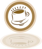 Graphisme stylisé de café Images stock