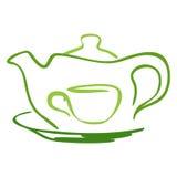 Graphisme stylisé de thé Images stock