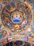 Graphisme sur le dôme du temple Photographie stock libre de droits