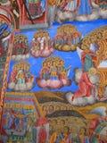 Graphisme sur le mur du temple Image libre de droits