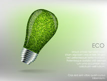 Graphisme vert d'énergie Photo libre de droits