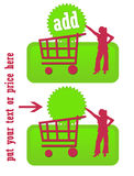 Graphisme vert d'achat illustration libre de droits