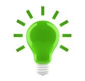 graphisme vert d'ampoule Photo libre de droits