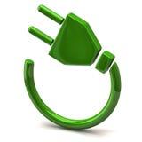 Graphisme vert de fiche électrique Photos stock
