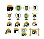 Graphismes à la maison illustration libre de droits