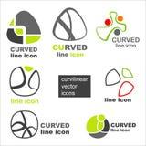 Graphismes élégants de vecteur Images stock
