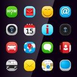 Graphismes 1 d'application de téléphone portable Photos stock