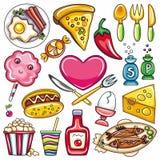 Graphismes 2 de nourriture Photos stock