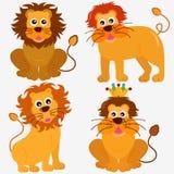 Graphismes animaux mignons de vecteur : Lion Images stock