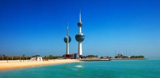 Graphismes architecturaux de Kuwait City image stock