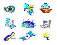 Graphismes artistiques de Web Illustration Stock