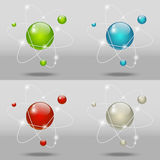 Graphismes atomiques Photo stock