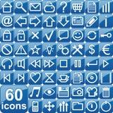 Graphismes bleus Image stock