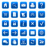 Graphismes/boutons de Web Image stock