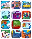 Graphismes d'école Images stock