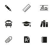 graphismes d'école réglés Images stock
