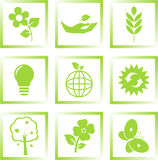 Graphismes d'écologie réglés Photographie stock