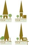 Graphismes d'église Images stock