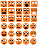 Graphismes d'émotion - vecteur Images stock