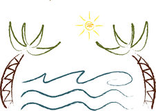 Graphismes d'été (v) : Paumes Photo stock
